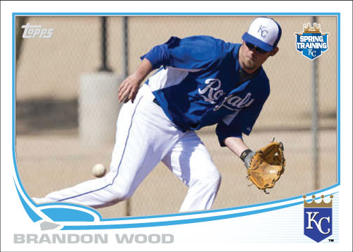 Brandon Wood 2013 Spring Training Custom card