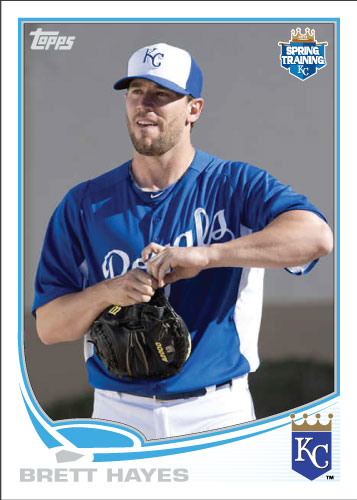 Brett Hayes 2013 Royals spring training custom card.