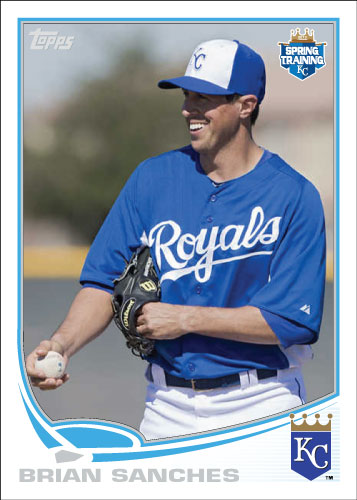 Brian Sanches 2013 Royals spring training custom card.
