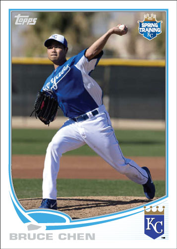 Bruce Chen 2013 Royals spring training custom card.