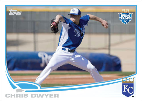 2013 Royals Spring Training custom card Chris Dwyer