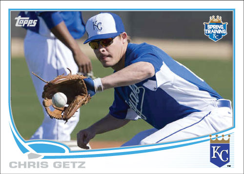 Chris Getz 2013 Spring Training custom card