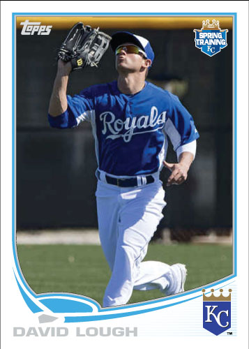 David Lough 2013 Topps spring training custom card.