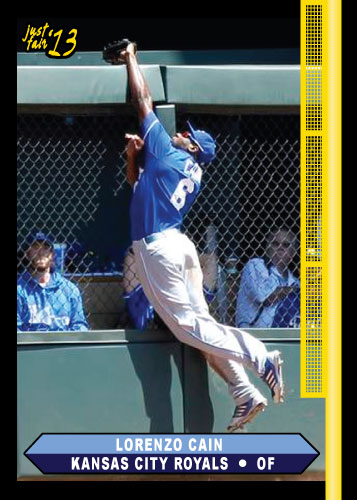 Lorenzo Cain 2013 Just Fair custom card