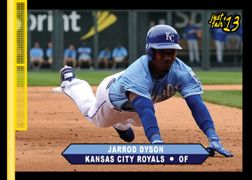 2013 Just Fair Jarrod Dyson custom card