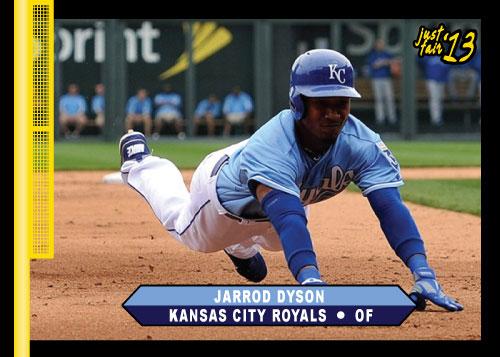 2013 Just Fair Jarrod Dyson custom card