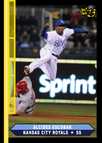 2013 Just Fair Alcides Escobar custom card