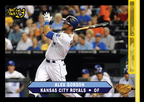 Alex Gordon 2013 Just Fair custom card