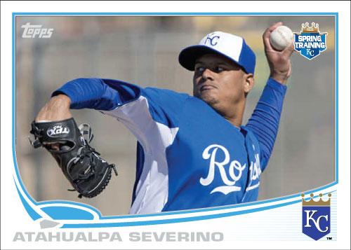 Atahualpa Severino 2013 spring training Royals custom card