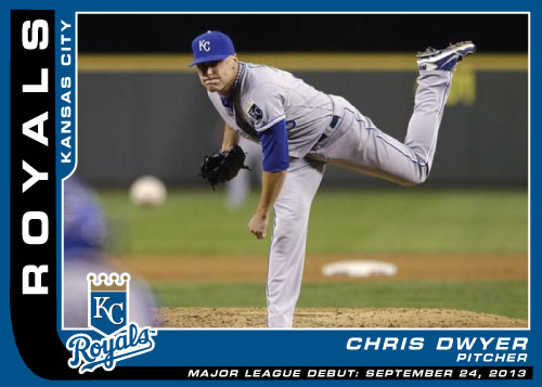 MLB Debut custom card Chris Dwyer