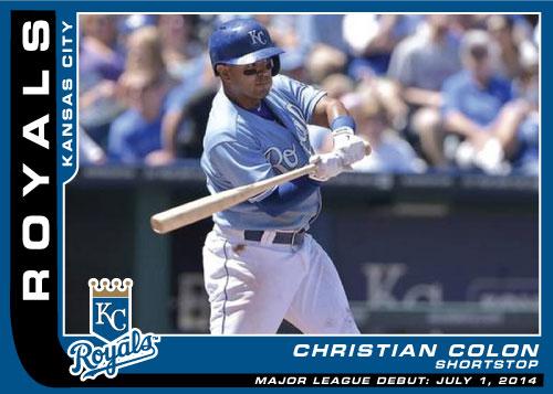 Christian Colon Major League Debut Custom Card