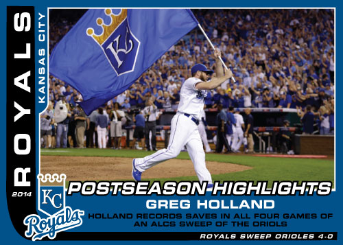 Postseason Highlight Kansas City Royals custom card set
