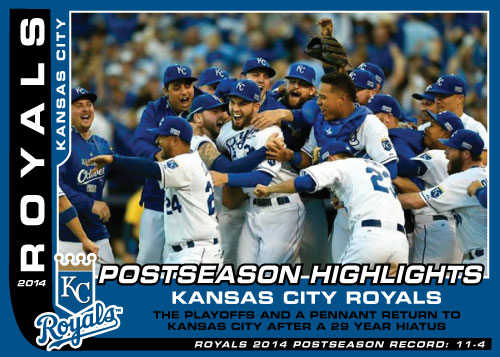 Postseason Highlight Kansas City Royals custom card set
