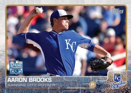 2015 Kansas City Royals Spring Training set - Aaron Brooks custom card