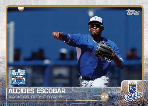 2015 Kansas City Royals Spring Training set - Alcides Escobar