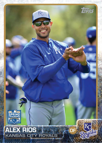 2015 Kansas City Royals Spring Training set - Alex Rios