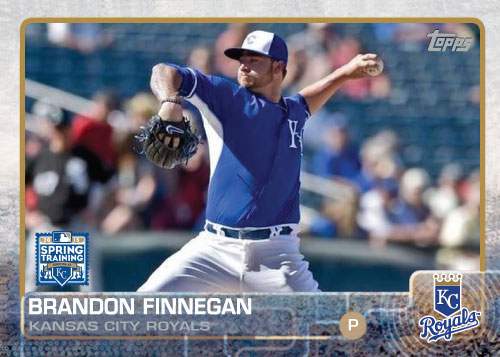 2015 Kansas City Royals Spring Training set - Brandon Finnegan custom card