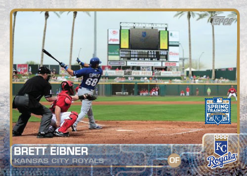 2015 Kansas City Royals Spring Training set - Brett Eibner custom card