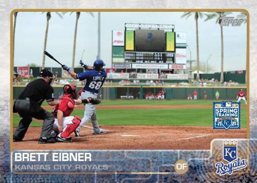 2015 Kansas City Royals Spring Training set - Brett Eibner custom card
