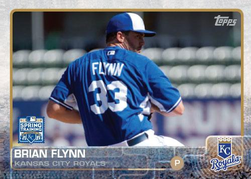2015 Kansas City Royals Spring Training set - Brian Flynn custom card