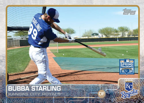 2015 Kansas City Royals Spring Training set - Bubba Starling custom card