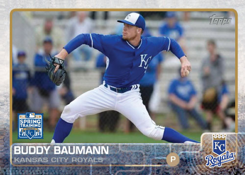 2015 Kansas City Royals Spring Training set - Buddy Baumann custom card