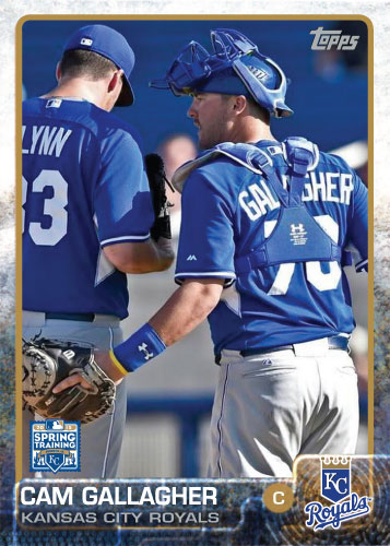 2015 Kansas City Royals Spring Training set - Cam Gallagher custom card