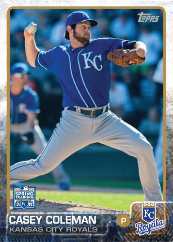 2015 Kansas City Royals Spring Training set - Casey Coleman