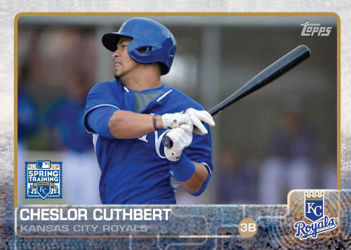 2015 Kansas City Royals Spring Training set - Cheslor Cuthbert
