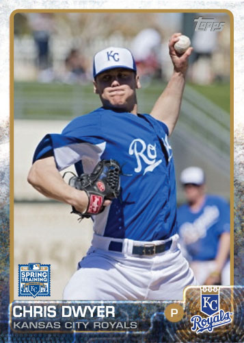 2015 Kansas City Royals Spring Training set - Chris Dwyer custom card