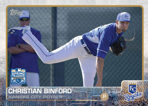 2015 Kansas City Royals Spring Training set - Christian Binford