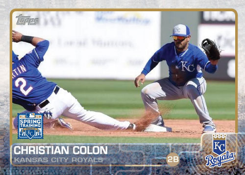 Christian Colon 2015 Kansas City Royals spring training custom card