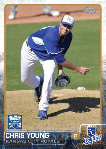 2015 Kansas City Royals Spring Training set - Chris Young