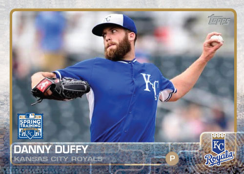 2015 Kansas City Royals Spring Training set - Danny Duffy custom card