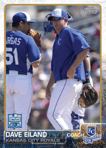 2015 Kansas City Royals Spring Training set - Dave Eiland