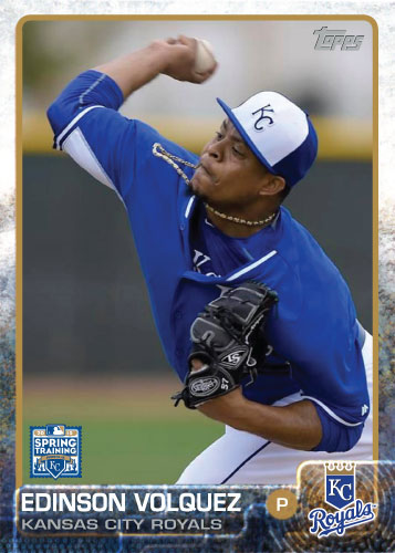2015 Kansas City Royals Spring Training set - Edison Volquez