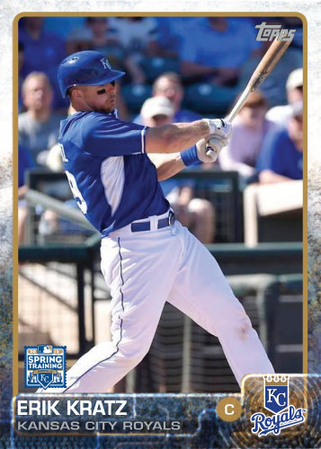 2015 Kansas City Royals Spring Training set - Erik Kratz custom card