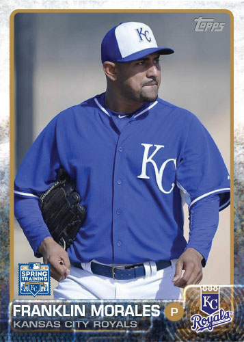Franklin Morales 2015 Kansas City Royals spring training custom card