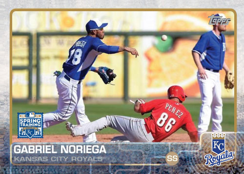 2015 Kansas City Royals Spring Training set - Gabriel Noriega