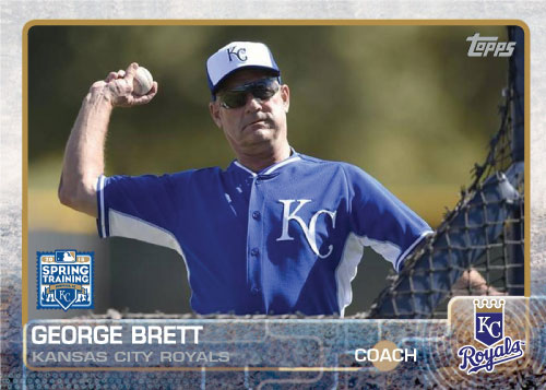 George Brett 2015 Kansas City Royals spring training custom card
