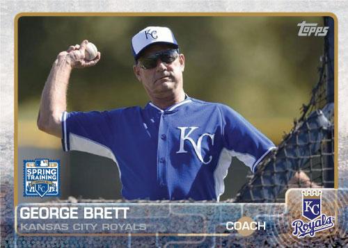 George Brett 2015 Kansas City Royals spring training custom card