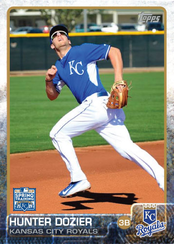 Hunter Dozier 2015 Kansas City Royals spring training custom card