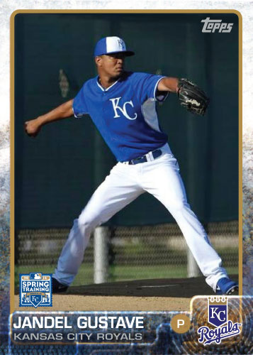 Jandel Gustave 2015 Kansas City Royals spring training custom card