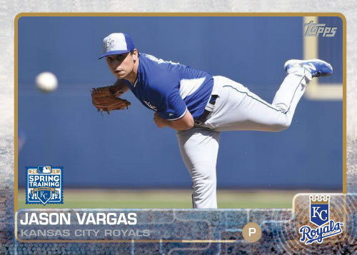 2015 Kansas City Royals Spring Training set - Jason Vargas custom card