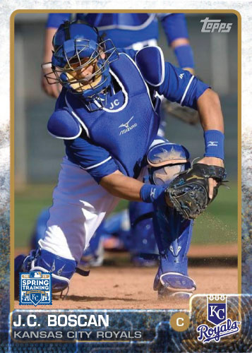 J.C. Boscan 2015 Kansas City Royals spring training custom card