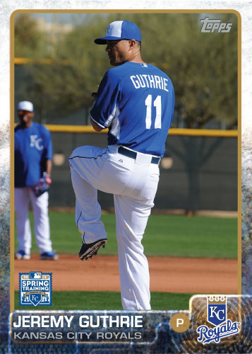 2015 Kansas City Royals Spring Training set - Jeremy Guthrie