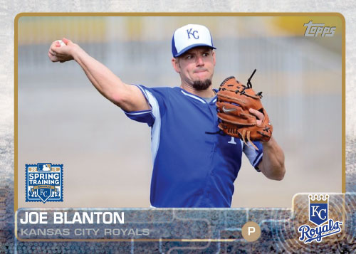 2015 Kansas City Royals Spring Training set - Joe Blanton custom card