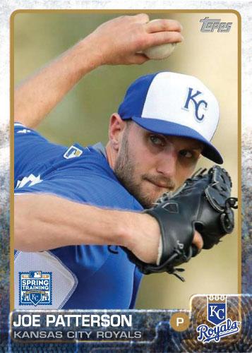 Joe Patterson 2015 Kansas City Royals spring training custom card