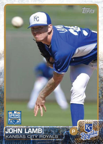 2015 Kansas City Royals Spring Training set - John Lamb custom card