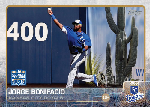 2015 Kansas City Royals Spring Training set - Jorge Bonifacio custom card